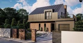 Дом с мансардой, гаражом и большой террасой