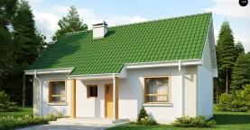 Простой в реализации дом с двускатной крышей, с возможностью обустройства мансарды.