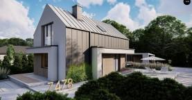Проект одноэтажного дома с двускатной крышей для небольшого участка