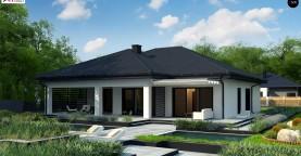 Одноэтажный дом с просторной гостиной и открытой кухней