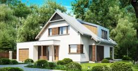Компактный функциональный дом с оригинальными архитектурными элементами.