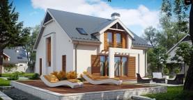 Дом традиционной формы с элегантными современными элементами в архитектуре.
