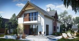 Функциональный и привлекательный дом с гаражом для узкого участка.