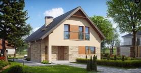 Проект аккуратного и удобного дома с мансардой.