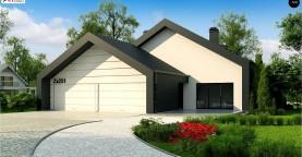 Проект современного дома с нетипичной планировкой и привлекательным дизайном экстерьера.