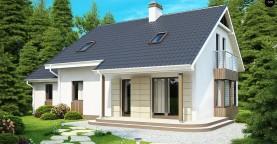 Выгодный в строительстве и эксплуатации дом с дополнительной спальней на первом этаже.