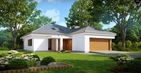 Практичный одноэтажный дом с гаражом, с возможностью адаптации мансарды.