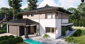 Вариант двухэтажного дома Z426 с многоскатной крышей