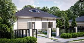 Дом с мансардой, четыре комнаты и гараж