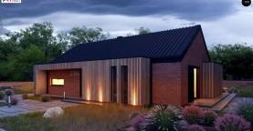 Одноэтажный дом с дополнительным пространством на чердаке