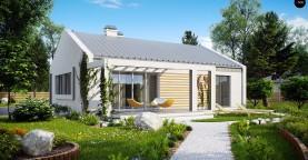 Простой и недорогой в строительстве энергосберегающий дом современного дизайна.