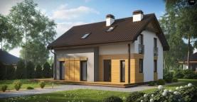 Вариант мансардного дома Z149 без гаража