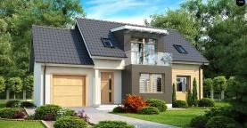 Проект дома с гаражом, с возможностью его использования в качестве двухсемейного.