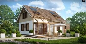 Уютный дом с террасой над гаражом, с возможностью обустройства зимнего сада.