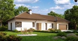 Функциональный удобный дом с гаражом на два автомобиля и большим хозяйственным помещением.