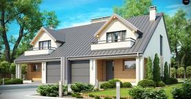Проект стильного, функционального и недорогого двухсемейного дома.