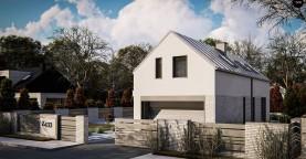Дом с мансардой, двускатной крышей, гараж на две машины.