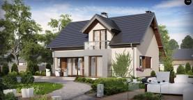 Традиционный дом с современными элементами архитектуры.
