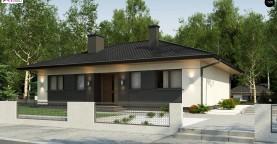 Аккуратный одноэтажный дом в традиционном стиле с продуманной планировкой
