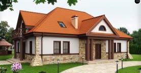 Проект двухсемейного дома в стиле дворянской усадьбы.