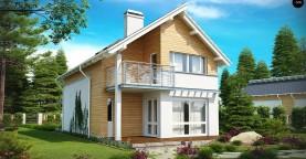 Энергоэффективный и удобный дом с современными элементами отделки фасадов. Подходит для узкого участка.