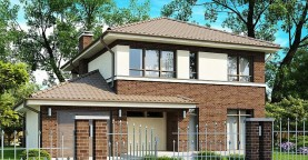 Вариант двухэтажного дома Zx24 с плитами перекрытия