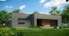 Современный односемейный одноэтажный дом с плоской крышей