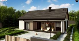 Практичный одноуровневый дом без гаража с современным экстерьером.
