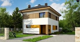 Компактный проект двухэтажного дома