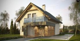 Компактный и удобный дом традиционной формы, подходящий, также, для узкого участка.