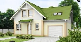 Уютный и функциональный дом «Т»-образной формы с гаражом.