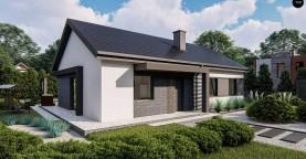 Классический одноэтажный дом с двускатной крышей
