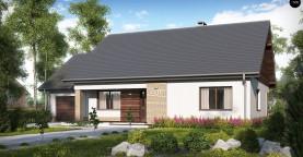Проект традиционного одноэтажного дома с возможностью обустройства мансарды.