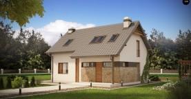Практичный аккуратный дом с мансардой, с удобной функциональной планировкой.