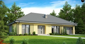 Одноэтажный дом традиционного характера с тремя удобными спальнями и встроенным гаражом.