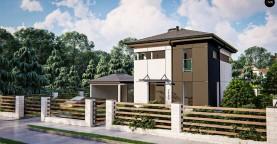 Современный проект дома с 3 спальнями
