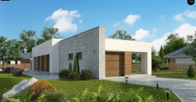 Комфортный одноэтажный дом для узкого участка.