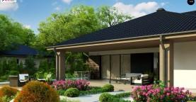 Компактный одноэтажный дом стильного дизайна