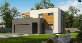 Двухэтажный коттедж современного лаконичного дизайна