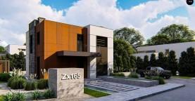 Современный двухэтажный дом без гаража