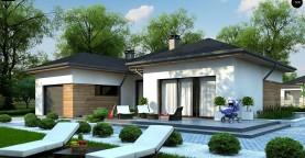 Проект комфортного одноэтажного дома в европейском стиле.