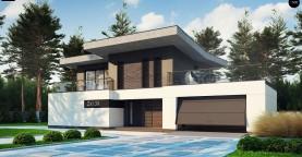 Современный стильный двухэтажный дом, с гаражом для двух машин