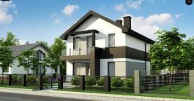 Компактный двухэтажный дом для узких участков.