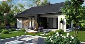 Проект дома с современным дизайном и одноуровневым функциональным интерьером.