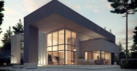 Комфортный современный двухэтажный особняк с сауной на втором этаже