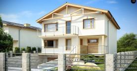 Проект выгодного и практичного двухэтажного дома с подвальным помещение, с дополнительной комнатой на первом этаже.