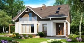 Функциональный и уютный дом с дневной зоной, расположенной со стороны входа.