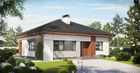 Проект стильного одноэтажного дома в классическом стиле.
