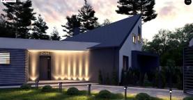 Проект современного дома с вторым светом, стильной кровлей и удобной планировкой.