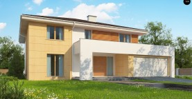 Проект комфортабельного двухэтажного коттеджа современного дизайна
